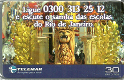 23130 MG 02/02 Ligue e escute o samba das escolas do RJ P0097 T160.000 CSM 30c