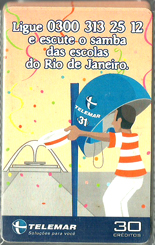 23138 MG 02/02 Ligue e escute o samba das escolas do RJ P0091 T160.000 CSM 30c