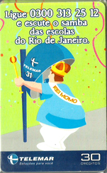 23140 MG 02/02 Ligue e escute o samba das escolas do RJ P0095 T160.000 CSM 30c